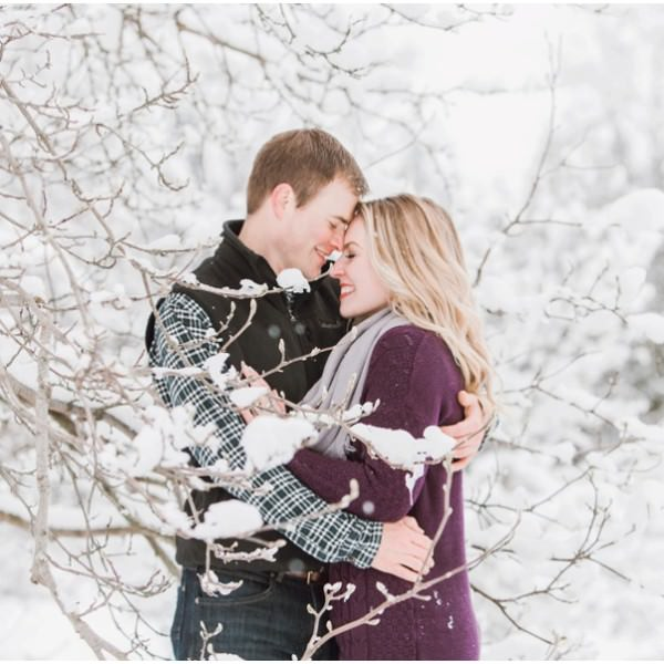 Kelly & Nate Spokane Winter Engagement