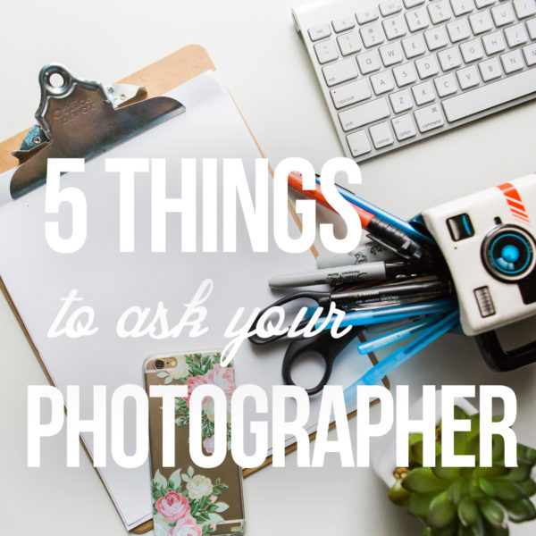 5 things to ask your Wedding Photographer