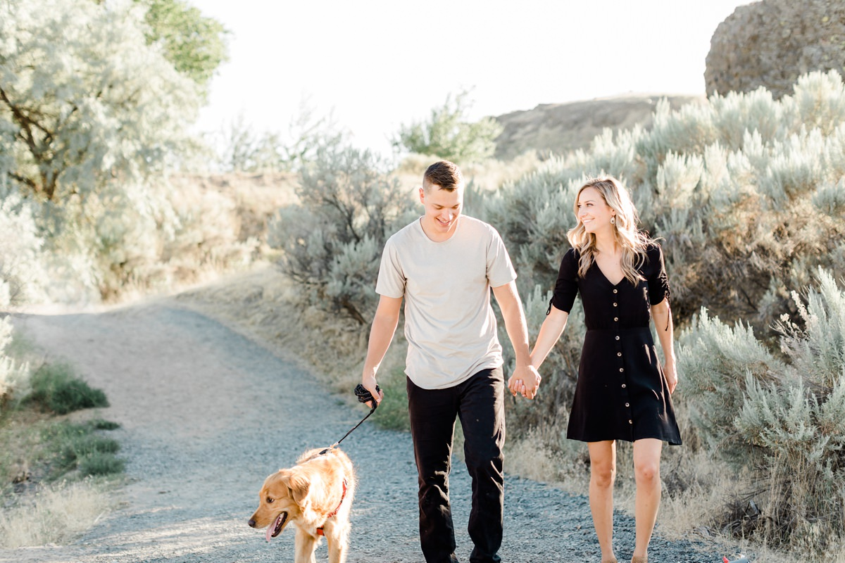 Engagement session with the dog