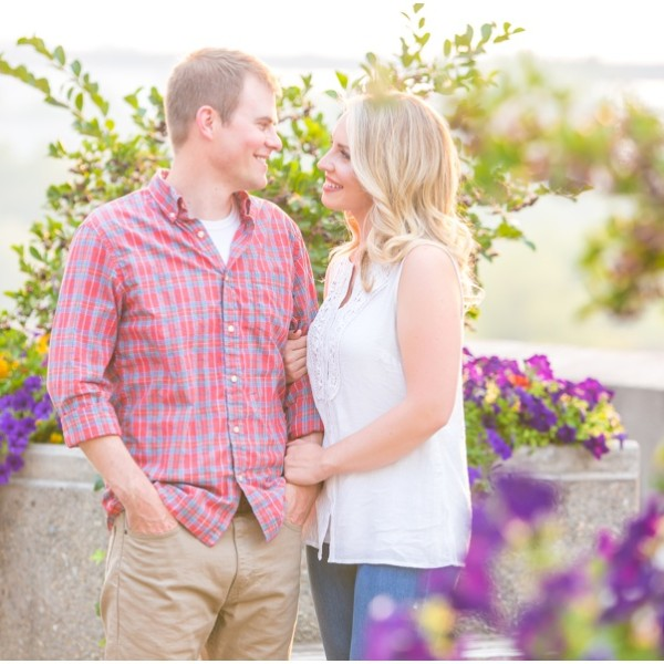 Kelly + Nate Summer Downtown Spokane Engagement Session