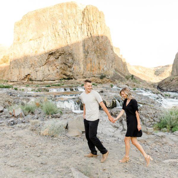 Sarah & Ben - Palouse Falls Engagement Session