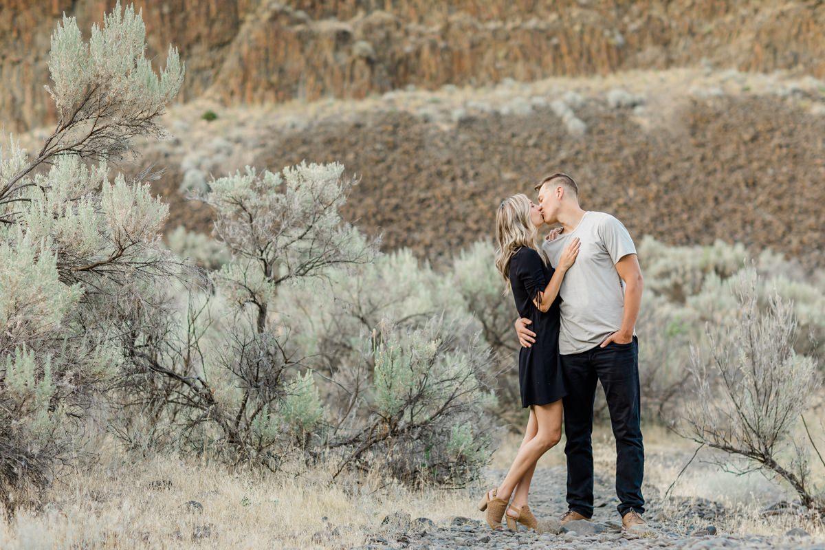cute couple Palouse Falls