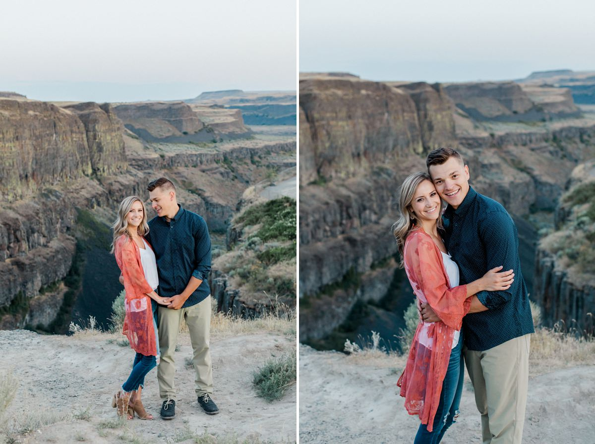 Palouse Falls engagement session by Oxana Brik